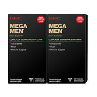 Gnc Mega Men - 2 Pack Of 180 Caplets