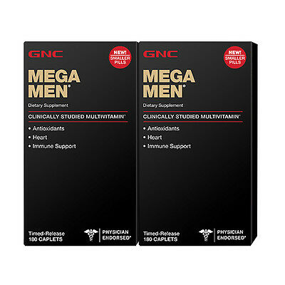 GNC Mega Men - 2 Pack of 180 Caplets