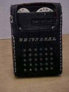 Vintage UNIVERSAL 6 - Transistor Radio PTR-62B Japan in Leather Case Free Ship