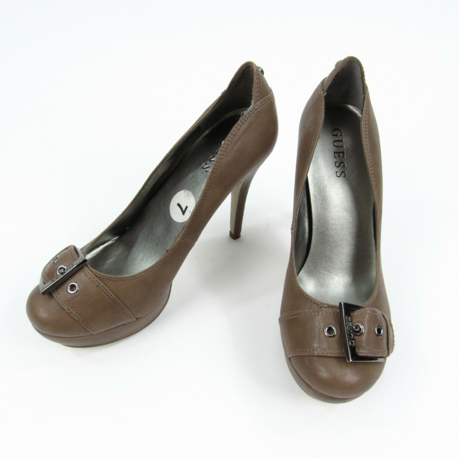 GUESS Women's Size 7 Heels Brown High Closed Toe