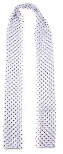 Ladies Retro Polka Dot Chiffon Scarf Soft Fabric Neck Wrap Long Chiffon Scarves