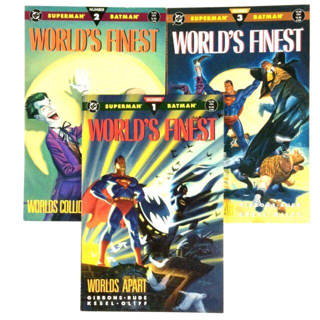 World's Finest 1-3 1990 Complete Limited Series Batman Superman Prestige Format