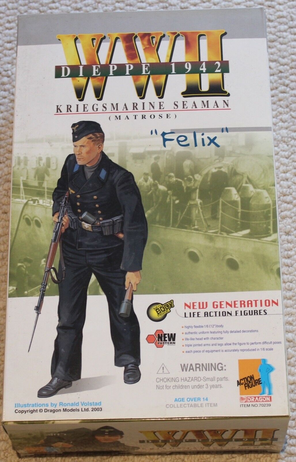 Dragon action figure 1 6 ww11 german felix 12'' boxed did cyber hot toy