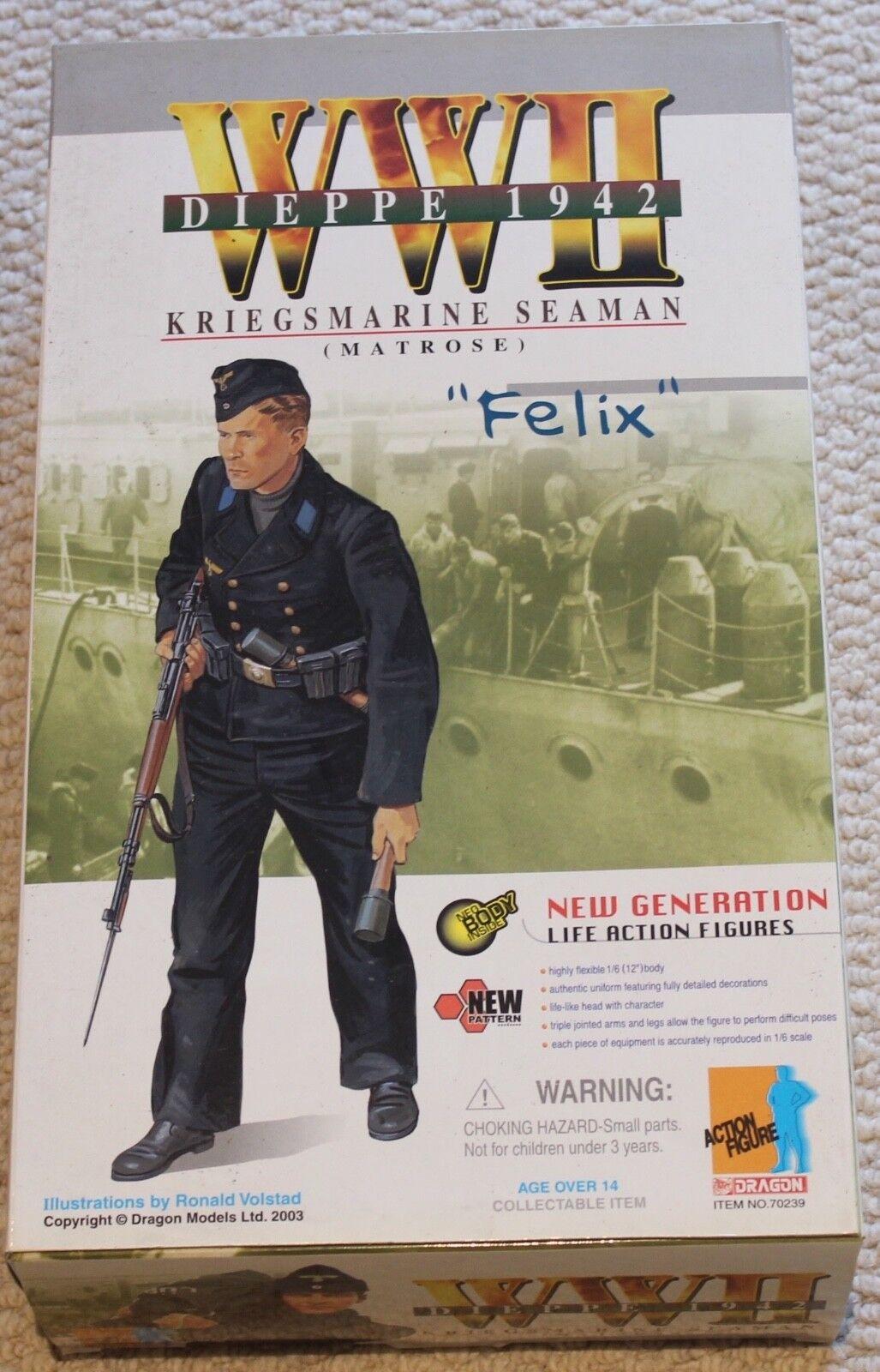 Dragon Action Figure 1/6 ww11 alemán Felix 12 en Caja hizo Cyber Hot Toy