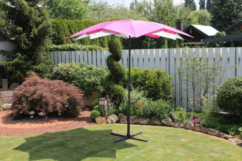 Sonnenschirm Blütendesign 8 Dessins Kurbel Ø 270 cm LC-Hibiscus