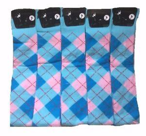 3 X Pairs Ladies Argyle Horse Design Horse riding Socks Ladies Knee high Socks