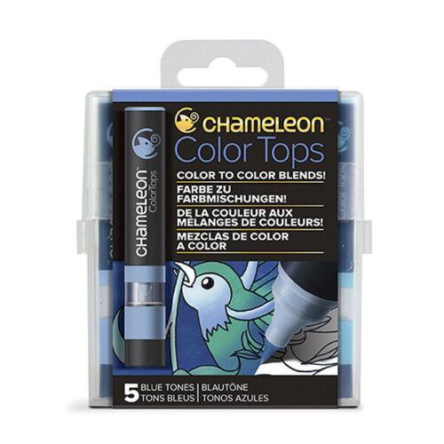 Chameleon Color Tops 5er Set Blautöne