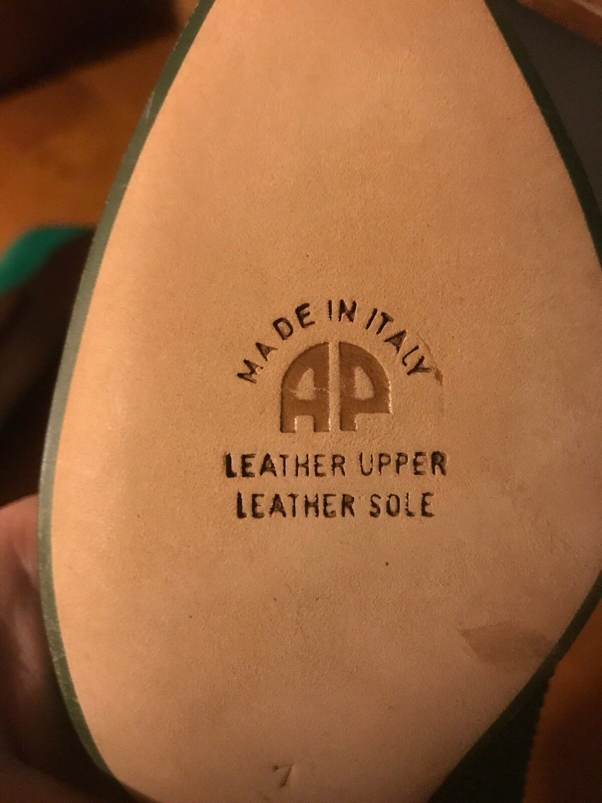 Andrea Pfister Pfister Pfister Teal Leather Vintage Pump Größe 7B NWOB 297d47