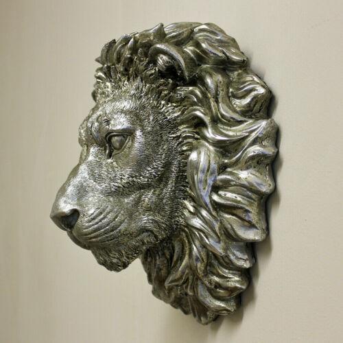 Rey León Animal cabezas Percha Colgante De Pared Decoración Hogar Adorno De Resina De Chimenea
