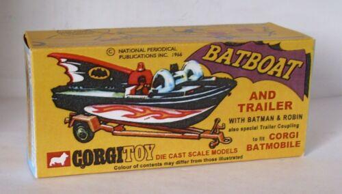 REPRO BOX CORGI n 107 Batboat