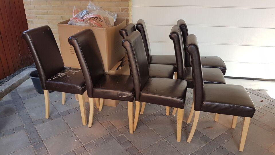 Spisebordsstol, træ og kunstlæder, jkendt