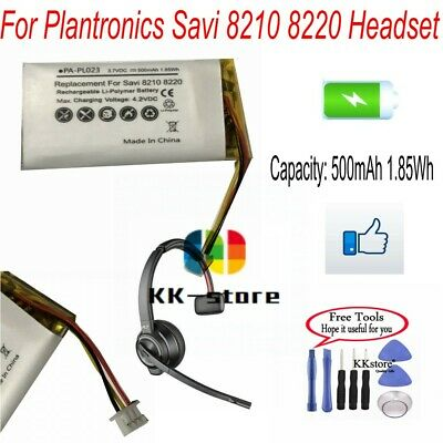 500mAh Rechargeable Battery for Plantronics Savi 8210 8220 Wireless Headset   eBay