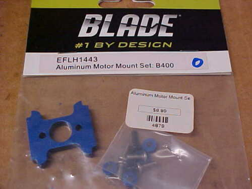 BLADE HELICOPTER PART EFLH1443 = ALUMINUM MOTOR MOUNT SET B400 NEW