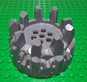 Lego 64711 x2 Wheel Hard Plastic with Small Cleats Dark Bluish Grey