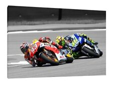 LARGE 30X20 Inch Canvas Framed Picture Pedrosa Lorenzo Marquez Rossi