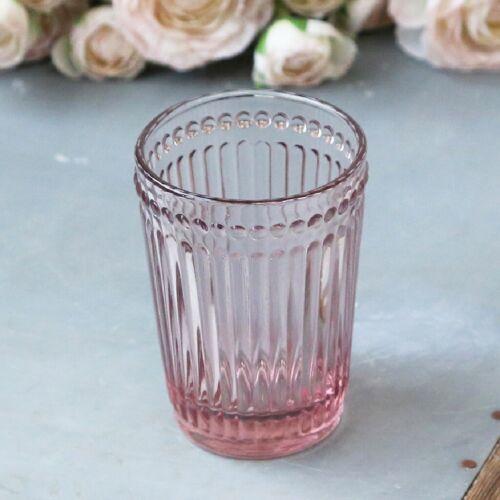 Vintage Estilo Antiguo Vaso De Baño De Vidrio-Rosa