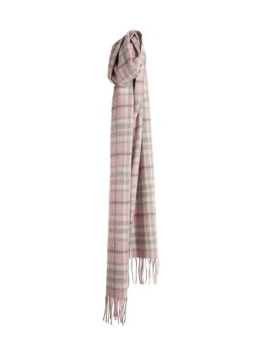 Made in Scotland Sinclair Duncan Luxury Cashmere Scarf in Pink Thomson Tartan