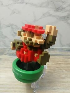 Nintendo Amiibo Super Mario Bros 30th Anniversary 16 Bit Pixel Figure WiiU 3DS