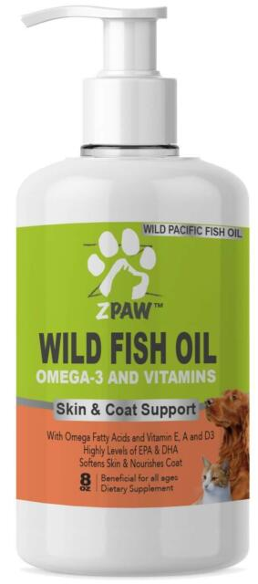 ZPAW Wild Fish Oil Omega 3 and Vitamins for Dogs and Cats Skin and Coat Support