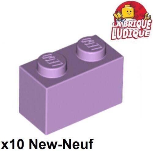 10x Brique Brick 1x2 2x1 lavande//lavender 3004 NEUF Lego