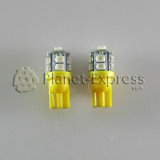 2 x Glühbirnen 10 LED SMD Gelb T10 W5W Auto, Stellung, lesen, anmeldung