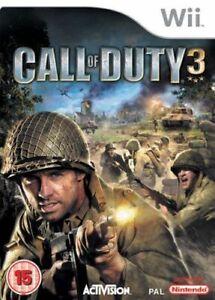 Wii-amp-Wii-U-Call-Of-Duty-3-COD-World-War-II-Game-WW-2-New-amp-Sealed