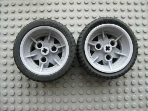 Lego 56x28 ZR Technic Balloon Tires LOT OF 2 with GRAY Wheels 41896 41897