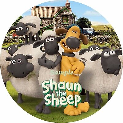 Shaun the Sheep 7 Inch Edible Image Cake / Cupcake Toppers ...