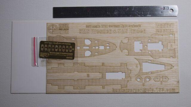 Hunter 1//350 W35057 Wood deck German Light Cruiser Dresden /& Emden for Revell