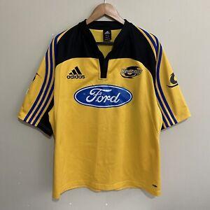 Wellington Hurricanes Adidas Super 14 2005 Rugby Jersey Yellow Mens 2XL XXL