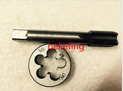 1pc HSS Machine 3//8-28 UN Plug Tap and 1pc 3//8-28 UN Die Threading Tool
