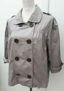 M-amp-S-Ladies-Size-16-Grey-Cotton-Jacket-Summer-Curve-Fashion-Wear-Marks-amp-Spencer