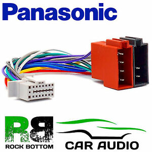 details about panasonic n model 16 pin car stereo radio iso wiring harness lead plug  panasonic wiring harness ebay #11