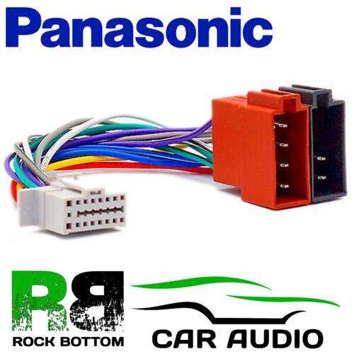 Panasonic N Modelo 16 PIN AUTO ESTÉREO RADIO arnés de cableado ISO Enchufe de plomo