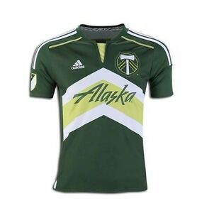 8276ae1f5 Portland Timbers Youth M 11-12 Home Green Replica Jersey 2016 adidas ...