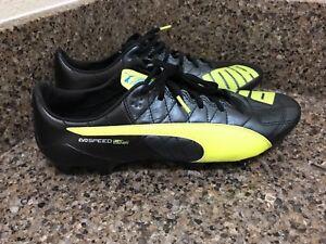 af79634930b PUMA evoSPEED SL Leather FG Soccer Cleats Black Gray103260 05 Men Sz ...