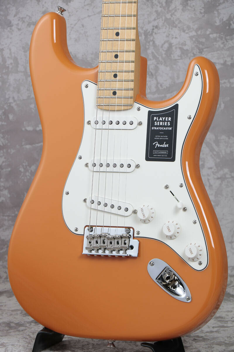 Fender Player Series Stratocaster Maple Fingerborad Capri Orange rare EMS F S