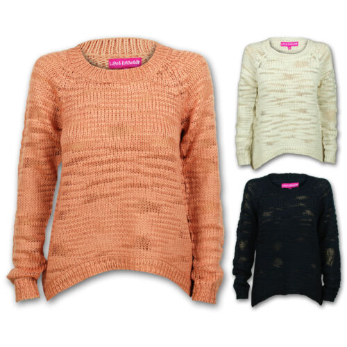 Ladies Jumper Womens Knit Cable Long Sleeves Stretchy Warm Stylish New Fashion