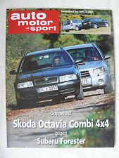 Skoda Octavia Combi 4x4-doble test-especial presión Auto Motor & Sport 23/2002