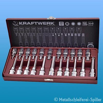 "Kraftwerk ® 328099 MagAlu XZN-Bit-Stecknuss-Satz 1//2/"" 7-tlg."