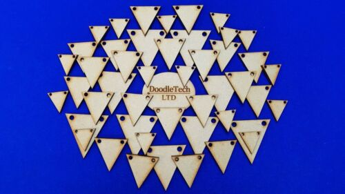 Craft Shapes Laser Cut MDF Blank Embellishments Wooden Bunting Triangles