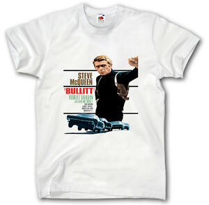 steve mcqueen t shirt s xxxl bullitt porsche racing ford mustang film shelby ebay. Black Bedroom Furniture Sets. Home Design Ideas