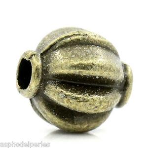 8 perles citrouille couleur bronze 8 x 7 mm S3Fi1Tzs-09095413-901673493