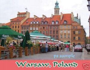 WARSAW, POLAND - Travel Souvenir Magnet
