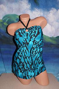 Bandeau L Tankini New Maternity Stampa Womans Liz Set Large Sz Turquoise Lange wqqTvXS6