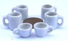 1:12 Scale Large White Ceramic Mug /& Black Coffee Tumdee Dolls House Miniature