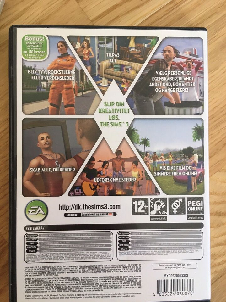 The Sims 3 grundspil, til pc, til Mac