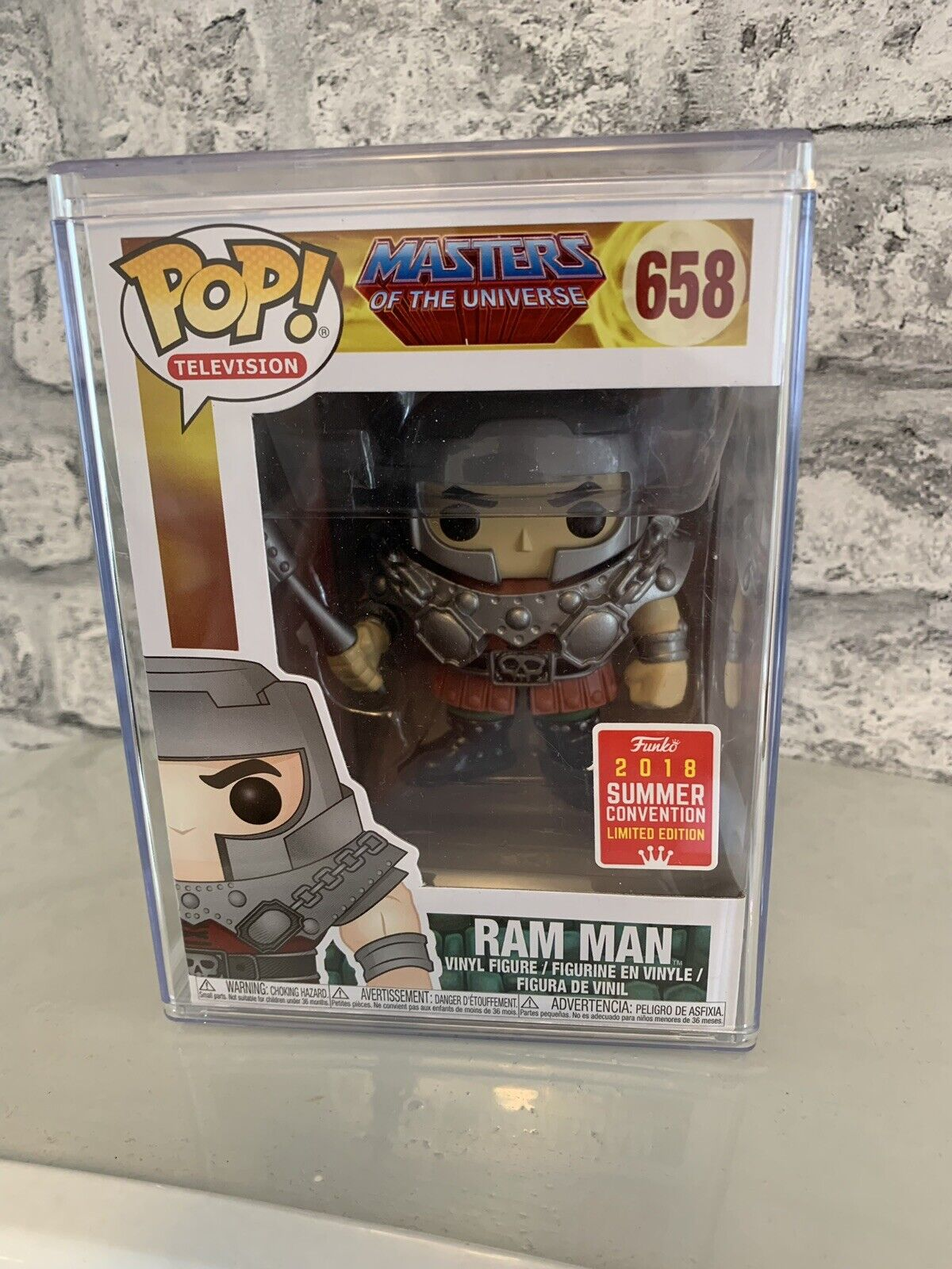 Funko Pop - Ram Man 658 - SDCC2018 - Masters of the Universe - Brand New in Box