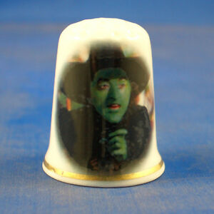 FINE-PORCELAIN-CHINA-THIMBLE-WIZARD-OF-OZ-WICKED-WITCH