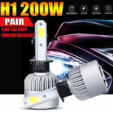2x H1 200W 20000LM Philips LED Headlight Kit 6500K White Car Bulbs Lamps Light